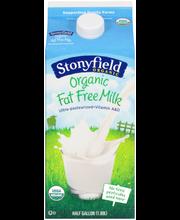 Stonyfield Organic™ Fat Free Milk 0.5 gal. Carton