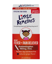 Little Remedies Infant Fever + Pain Reliever Grape Flavor