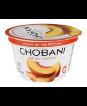Chobani® Peach on the Bottom Non-Fat Greek Yogurt 5.3 oz. Cup