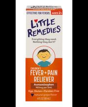 Little Remedies Children's Fever + Pain Reliever Acetaminophe...