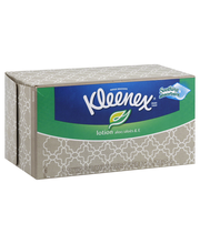 Kleenex Facial Tissues with Lotion, 170 Tissues per Flat Box