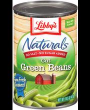 Libby's® Naturals No Salt & No Sugar Added Cut Green Beans 14...