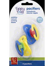 TIPPY TOES PACIFIERS 6-12 MONTHS