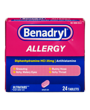 Benadry® Allergy UltraTab™ 25 mg Tablets 24 ct Box