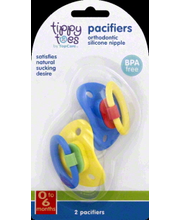 TIPPY TOES PACIFIERS 0-6 MONTHS