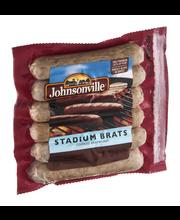 Johnsonville Stadium Brats Cooked Bratwurst 14oz zip pkg (100...