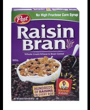 Post® Raisin Bran Whole Grain Wheat & Bran Cereal 20 oz. Box