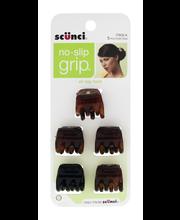 Scunci No Slip Grip Hair Clip - 5 CT