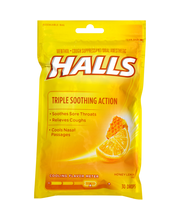 Halls Honey Lemon Cough Suppressant/Oral Anesthetic Menthol D...