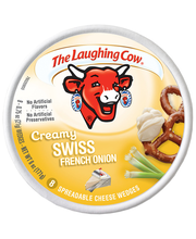 The Laughing Cow® Creamy Swiss French Onion Spreadable Cheese...