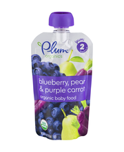 Plum Organics® Stage 2 Blueberry, Pear & Purple Carrot Organi...