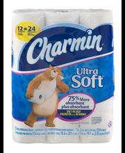 Ultra Charmin Ultra Soft Toilet Paper 12 Double Rolls