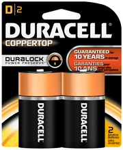 Duracell CopperTop D Alkaline Batteries 2 ct Blister