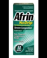 Afrin® No Drip Maximum Strength Plus Menthol Severe Congestio...