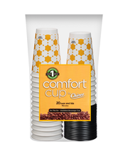 Comfort Cup® by Chinet® Cups and Lids 20 ct Pack
