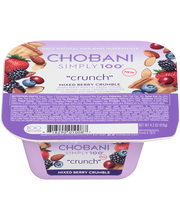 "Chobani® Simply 100®""Crunch"" Mixed Berry Crumble Non-Fat Gree..."