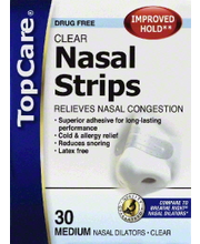 TOPCARE NASAL STRIPS MD CLEAR