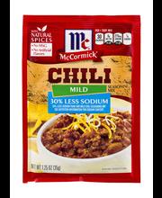 McCormick® Mild Chili Mix, Less Sodium, 1.25 oz. Packet