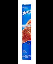 Ziploc® Double Zipper 2 Gallon Freezer Bags 10 ct Box