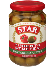 Star® Pimiento Stuffed Manzanilla Olives 7 oz. Glass jar