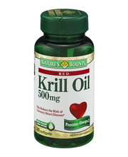 Nature's Bounty Krill Oil 500mg Dietary Supplement Softgels -...