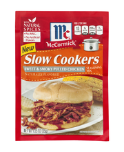 McCormick® Slow Cookers Sweet & Smoky Pulled Chicken 1.25 oz....