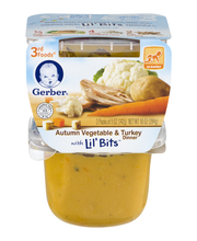 Gerber® 3rd Foods® Autumn Vegetable & Turkey Dinner with Lil'...