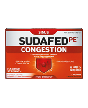 Sudafed PE® Nasal Decongestant Tablets 36 ct Box