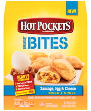 Hot Pockets Sausage, Egg, & Cheese Breakfast Bites in a Biscu...