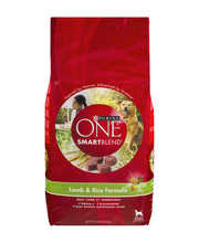 Purina ONE SmartBlend Lamb & Rice Formula NATURAL Adult Dog Food 8 lb. Bag