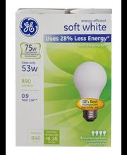 GE Soft White General Purpose Halogen Bulbs 75w - 4 CT