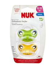 NUK 6-18 Months Natural Shape Orthodontic Silicone Pacifier -...