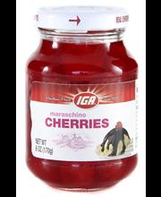 IGA Maraschino Cherries 12x6 oz