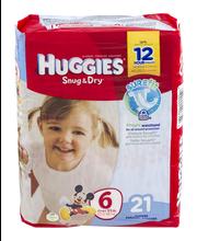 Huggies® Snug & Dry Diapers size 6 21 ct Pack