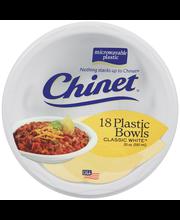 Chinet® Classic White™ 20 Oz Plastic Bowls 18 Ct Bag