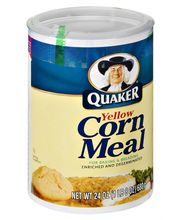 Quaker® Yellow Enriched and Degerminated Corn Meal 24 oz. Can...