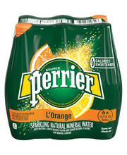 PERRIER Sparkling Natural Mineral Water, L'Orange 16.9-ounce ...