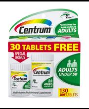 Centrum® Adult Multivitamin/Multimineral Tablets 130 ct Box