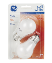 General Electric Soft White Bulb 40w Ceiling Fan - 2 CT