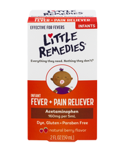 Little Remedies Infant Fever + Pain Reliever Acetaminophen Berry