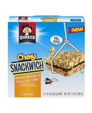 Quaker® Chewy Snackwich® Peanut Butter & Chocolate Chip Snack...