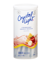 Crystal Light Strawberry Orange Banana Drink Mix 6 ct Canister