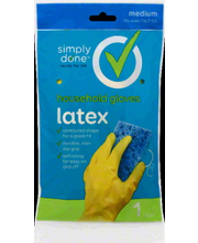 SIMPLY DONE GLOVES LATEX MD