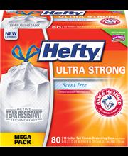 Hefty® Ultra Strong Scent Free Tall Drawstring 13 Gallon Kitc...