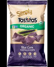 Tostitos Simply Organic Blue Corn Tortilla Chips 8.25 oz. Bag