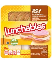 Lunchables Ham & Swiss with Crackers Lunch Combination 3.2 oz...