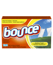 Bounce Fabric Softener Dryer Sheets Outdoor Fresh 120CT