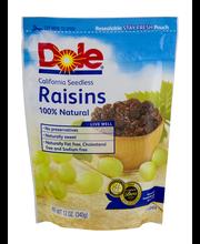 Dole® California Seedless Raisins 12 oz. Pouch