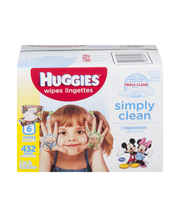 Huggies Simply Clean Wipes Fragrance Free - 432 CT