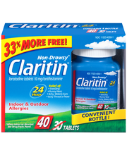 Claritin® Non-Drowsy Allergy Relief Tablets 40 ct Box